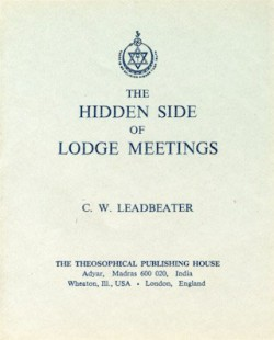 The Hidden Side of Lodge Meetings(PM)